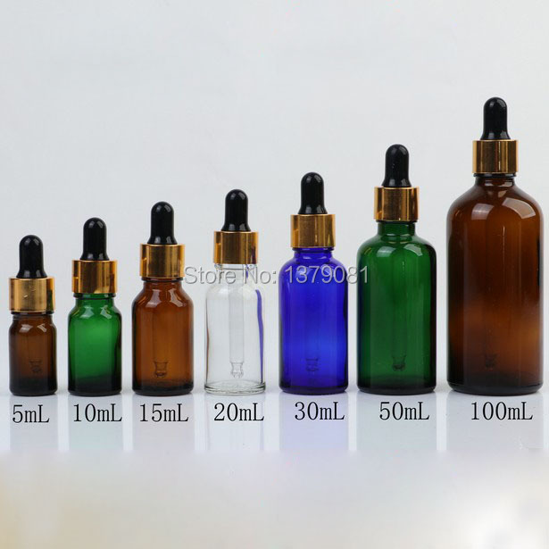 5ml,10ml,15ml,20ml,30ml,50ml,100ml Brown,Clear Glass Bottles with Dropper Essential Oil Bottle Black Rubber DIY Sample Vial <br>
