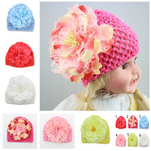 2017 Fashion Flower Toddlers Infant Baby Girls Crochet  Women Hair Bands Headband Headwear Hat 1pc retail