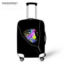 TWOHEARTSGIRL Painted Face Designer Personalized Luggage Protector Cover Suitcases Covers Waterproof Luggage cCovers Travel Case