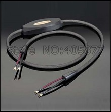High end audio speaker cable with Gold plated Y spade(China)