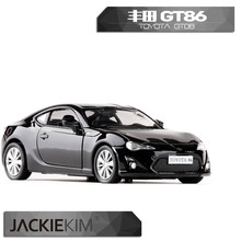 6pcs/lot Wholesale Brand New UNI 1/36 Scale JAPAN TOYOTA GT 86 Diecast Metal Pull Back Car Model Toy(China)