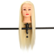 "Mannequin Hairdressing Training Heads 100% High Temperature 29"" Mannequin Head With Long More Thicker Blonde White Hair + Clamp"