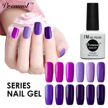 Vrenmol Shiny Long Lasting UV Glue Gel Varnishes Purple Series Need Top Coat Top It Off Base Coat  Nail Art Gel Polish