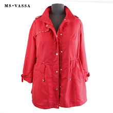 New Women fashion Trench coat ladies long casual coat plus size 5XL 7XL turn-down collar happy size row button border