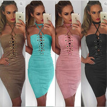 Buy 2018 Summer Sexy Womens Bandage Dresses Elegant Women Halter Pink/Black Evening Party Bodycon Dresses Strapless Club Vestidos