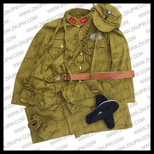 WW2 Chinese KMT Army Soldier Uniform Sets Jacket&Pants Hat Belt Bag Ammo Pouch CN/50116