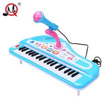 37 Keys Musical Instruments Mini Electone Keyboard Toys With Microphone Learning Educational Toys For Children Exercise Gift(China)