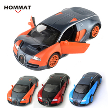 HOMMAT 1:32 Bugatti Veyron Sports Racing Car Alloy Diecast Toy Vehicle Car Model Die Cast Metal Collection Gift Pull Back Light(China)