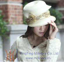 Free Shipping Hot Sale Fashion New Arrival Women Hat Church Hats Women Fashion Hat Formal Fedoras Good Elegant Top Chapeau(China)