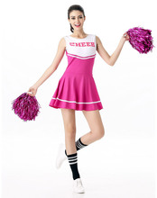 Sexy Cheerleader Costume one-piece SCHOOL GIRL DRESS come with 6 different colors party uniform S5566