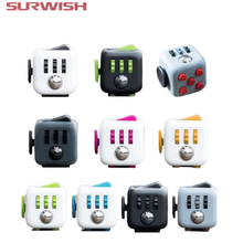 Surwish Mini Fidget Cube Toy Vinyl Desk Finger Toys Squeeze Fun Stress Reliever 3.3cm High Quality Antistress Cubo(China)