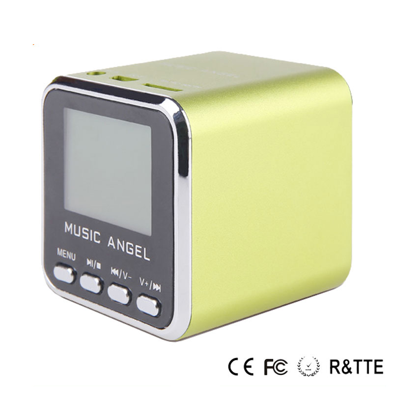 Mini square music angel speaker home audio video & accessories Music Angel speaker aluminium tube JH-MD08 Black/Blue/pink/green(China (Mainland))