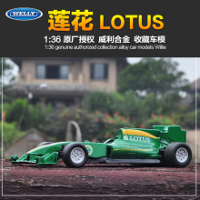 High Quality Children Toys Pull Back Welly Mini Collection Die-cast Car Models F1 Racing Car LOTUS T125(China)