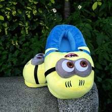 3D minions slippers woman Winter Warm slippers Despicable Minion Stewart Figure Shoes Plush Toy Home Slipper One Size Doll(China)