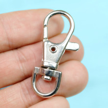 38mm Smooth Lobster Swivel Clasp Metal Connector Fittings For DIY jewelry Making Keychain Parts Bag Accessories