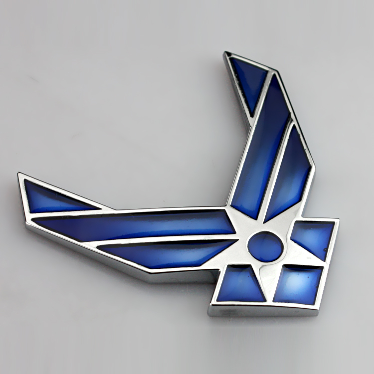 Chrome Metal Blue United States Air Force Car Styling Emblem 3D Car Sticker Refitting Stickers Auto Exterior Logo Decoration(China)