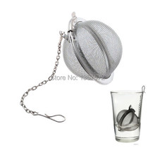 New Stainless Steel Infuser Strainer Mesh Tea Filter Spoon Locking Spice Ball bcH