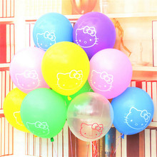 Wholesale 50pcs/lot Hello Kitty Latex Balloons Air Balloons Inflatable Happy Birthday Christmas Globos Party Balloons Decoration