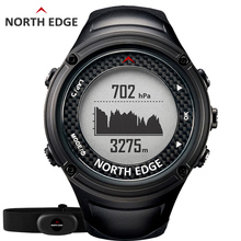 NORTH EDGE Men's Sports GPS watch men Digital watches Waterproof Heart Rate Monitor Altimeter Barometer Compass hours Hiking(China)