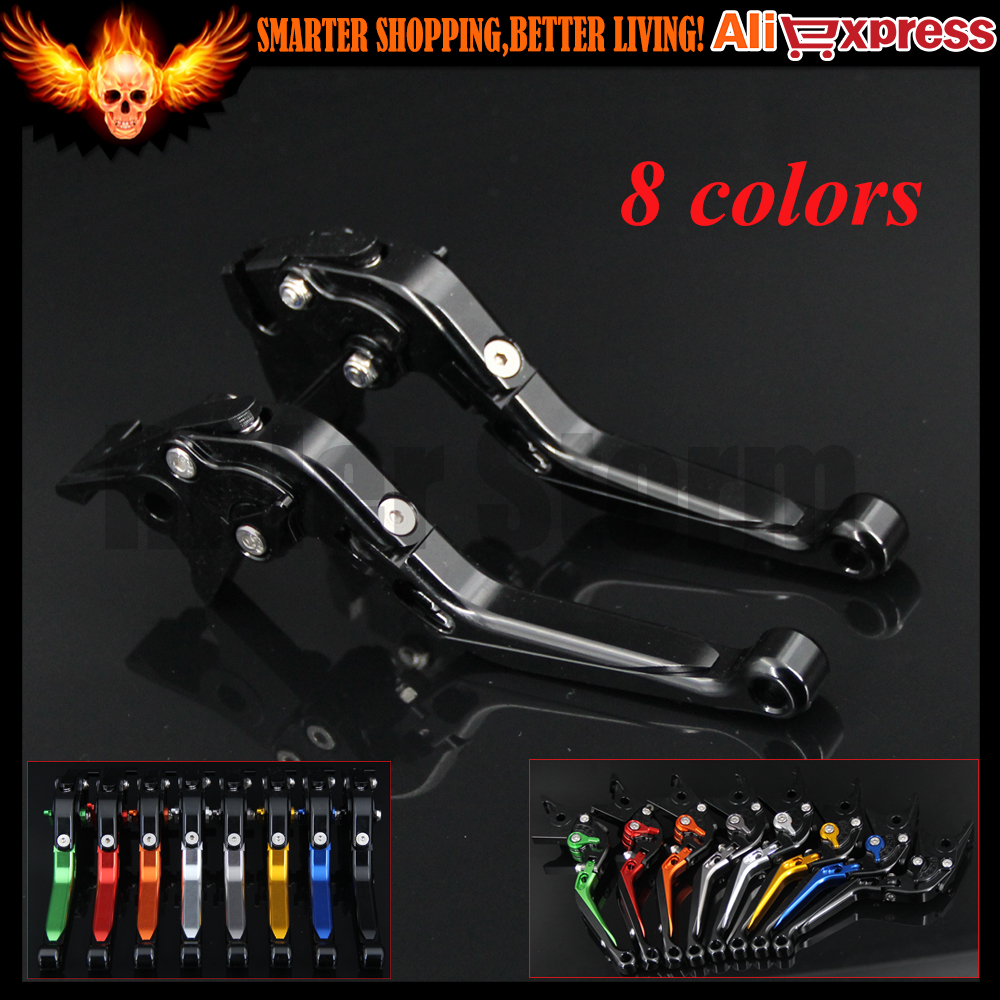 Full Black 8 Colors CNC Adjustable Folding Extendable Motorcycle Brake Clutch Levers For Suzuki B-KING 2008 2009 2010 2011<br>