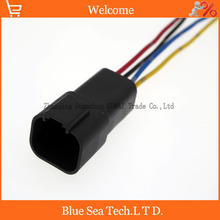 Sample,5 PCS Deutsch DT04-4P 4Pin Engine/Gearbox waterproof electrical connector with cable for car,bus,motor,truck etc.