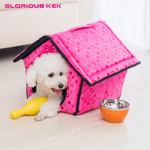 Glorious Kek Small Dog House Cute Dog Bed Pet Bed Warm Soft Dogs Kennel Removable Indoor Cat Bed Cat House Cama Perro Washable(China)
