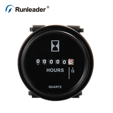 Professional Engine Round Mechanical Hour Meter Gauge Timer Hourmeter AC 110-220V for Cars Fork Lifts Trucks marine generator(China)