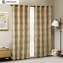 Firefly Jacquard window curtains heavy fabric high quality with silver wire embed 60% shading for livingroom floral blue color