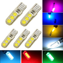 100Pcs Hight Quality T10 W5W 6 SMD CANBUS 5050 Car Interior Led Lights 12V 6 led Waterproof No Warning Error Free Lamps Bulbs(China)
