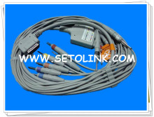 KENZ PC109 ECG/EKG CABLE 10 LEADS DIN 3.0 END AHA STANDARD(China)