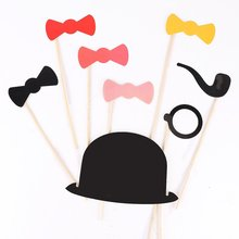 ABWE Best Sale 50 Pcs Colorful Props On A Stick Mustache Photo Booth Fun Party Wedding Christmas Birthday