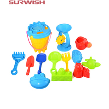 Surwish 25Pcs Beach Sand Toy Set Bucket Shovels Rakes Sand Wheel Watering Can Molds Best Toy for Children