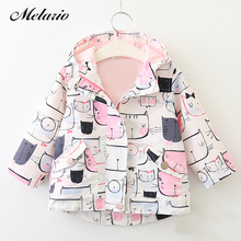 Melario Outwear&Coats 2017 New Autumn Spring Active Style Boys&Girls Jackets Kids Clothes Hooded Outerwear 3-8Y Girls Coat