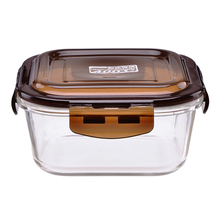 square food containers glass lunch box fridge fresh lock bowl tigela