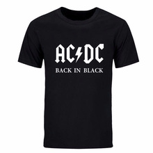 2017 New Camisetas AC/DC band rock T Shirt Mens acdc Graphic T-shirts Print Casual Tshirt O Neck Hip Hop Short Sleeve cotton Top