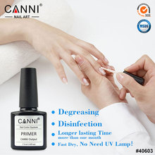 #40603 CANNI professional nail art water based primer, base coat gel, matt top coat without acid primer uv color gel nail polish(China)