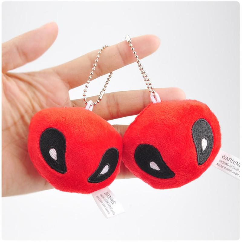 X-Men Deadpool Plush Toys Movie & TV Super Heroes Deadpool Key Bag Pendants Dolls Cosplay Promotional Gift 10pcslot 7cm (5)