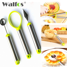 KITNEWER  Vegetable and Fruit Carving Tools Stainless Steel Melon Baller Fruit Carving Knife Double Side Melon Scoop