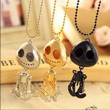 big eyes UFO skeleton head grows necklace+ Free Shipping(China)