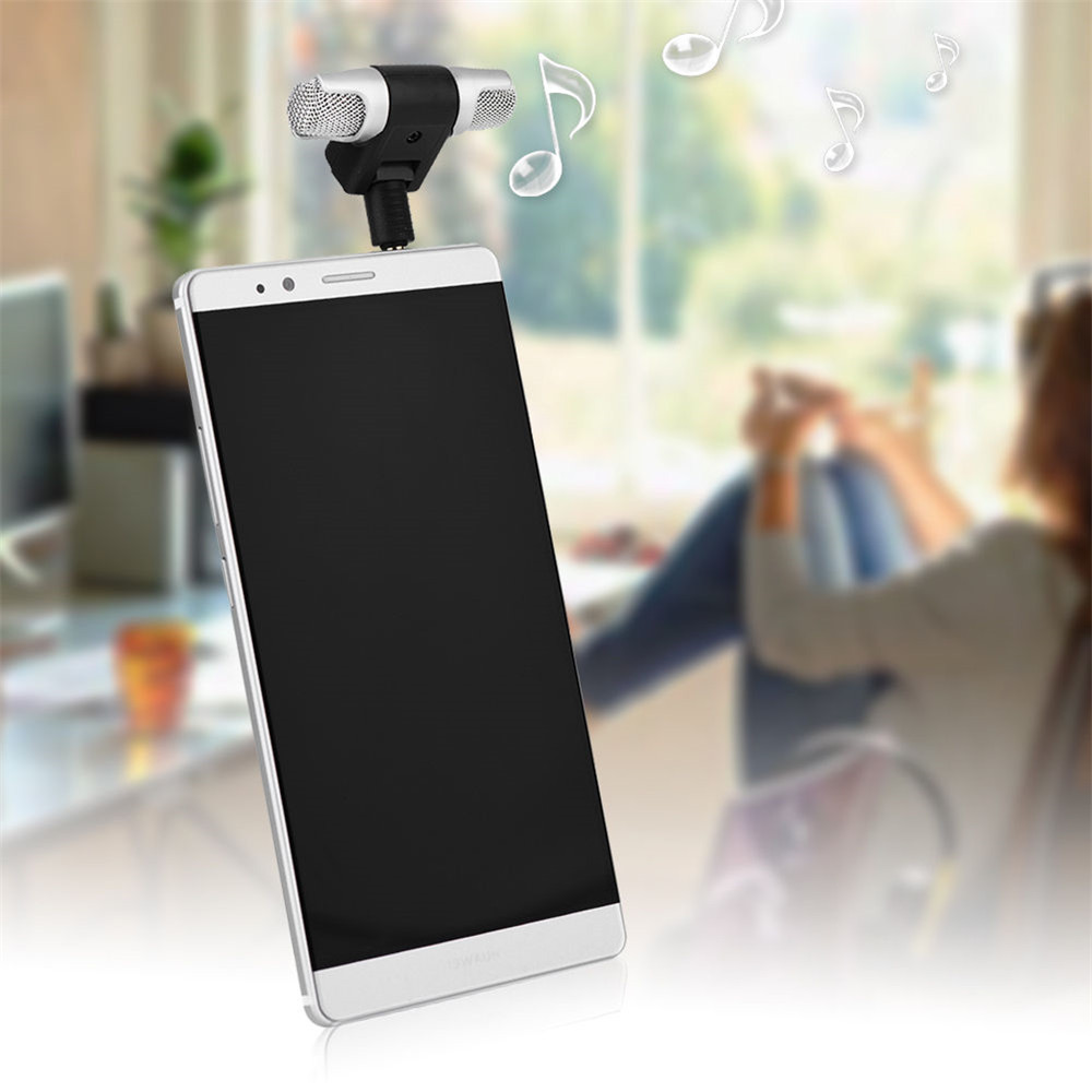 Mini 3.5mm Microphone Stereo Mic For Recording Mobile Phone Studio For Laptop Mi