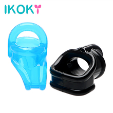 Buy IKOKY Cock Ring Elastic Penis Sleeve Sex Toys Men Dildo Extender Penis Ring Delay Ejaculation Male Masturbator Adult Product