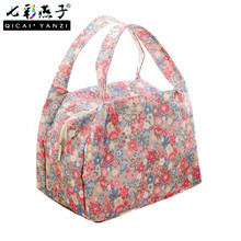 QICAI.YANZI 2017 New Lunch Bags Pouch Storage Box Flowers Insulated Thermal Cooler Bag Picnic Tote Bolsa Termica Lancheira N563