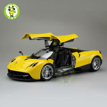 1:18 Pagani Automobili Huayra Diecast Supercar Model Toys - Welly GT Autos 11007 Yellow