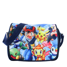 Pikachu Team Shoulder School HandBag Book Messenger Bag Boys Girls(China)
