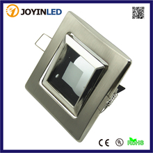 Zinc alloy lighting fixture Square dia.50mm GU5.3/MR16/GU10 LED halogen bulb holder satin nickel color glass lens free shipping