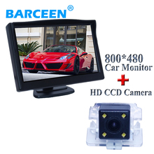 "In-Dash placement 5"" car monitor+car rear view camera with 4 LED car rear view system for Mitsubishi Outlander(China)"