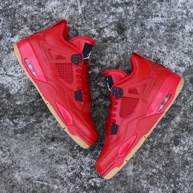 High-Quality-Jordan-Retro-Basketball-shoes-4-Singles-Day-Red-Sneaker-Men-Athletic-Outdoor-Sport-Shoes (4)