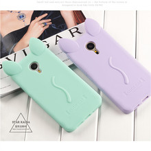 Fashion Cartoon cat Case Meizu For M2 M3 Note M2 Mini MX4 Pro MX5 Shell Pro 5 6 Cat Ears Silicon material soft Back Case Cover