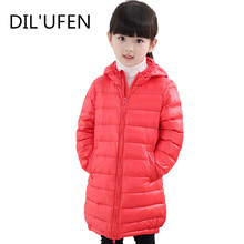 DIL'UFEN Brand 2017 Fashion Children's Down Parkas Jackets Coats Cotton-padded Girls Warm Winter Coat Jacket Children Outerwear