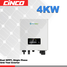 SGN4000TL Grid tied inverter,double MPPT single phase 230V 4KW output pure wave sine grid tied solar inverter(China)